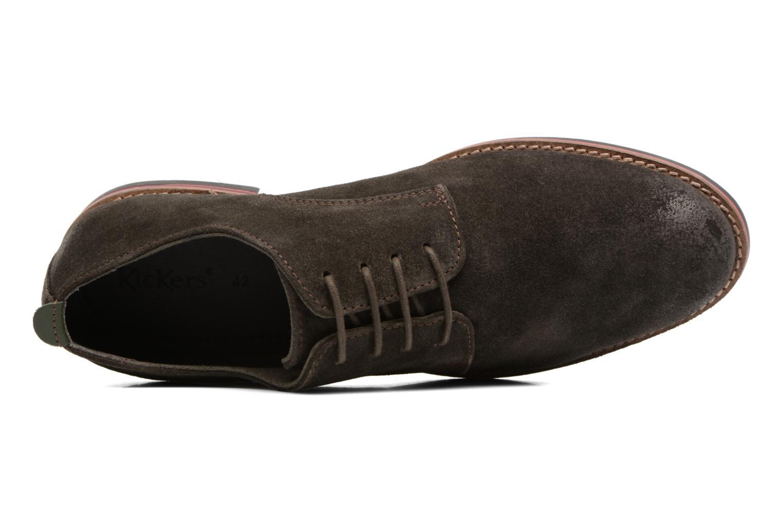 Scarpe con lacci Kickers Eldan Marrone immagine sinistra