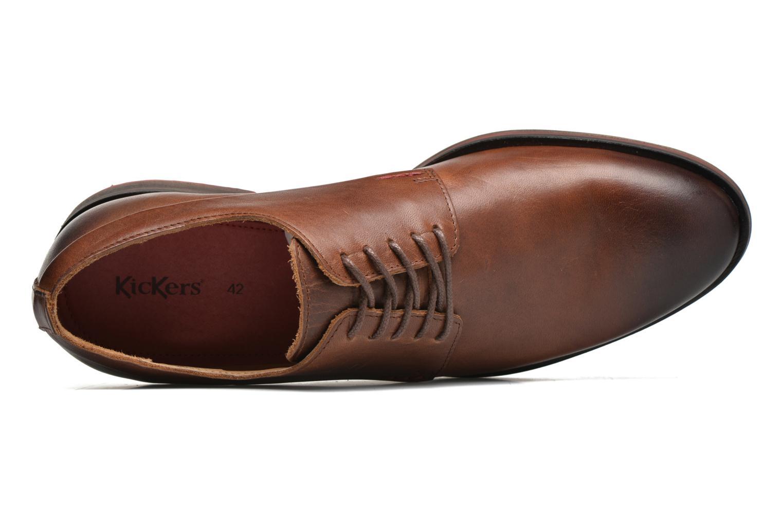 Chaussures à lacets Kickers Darkos Marron vue gauche