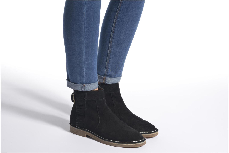 Bottines et boots Esprit Koa Fringes Noir vue bas / vue portée sac