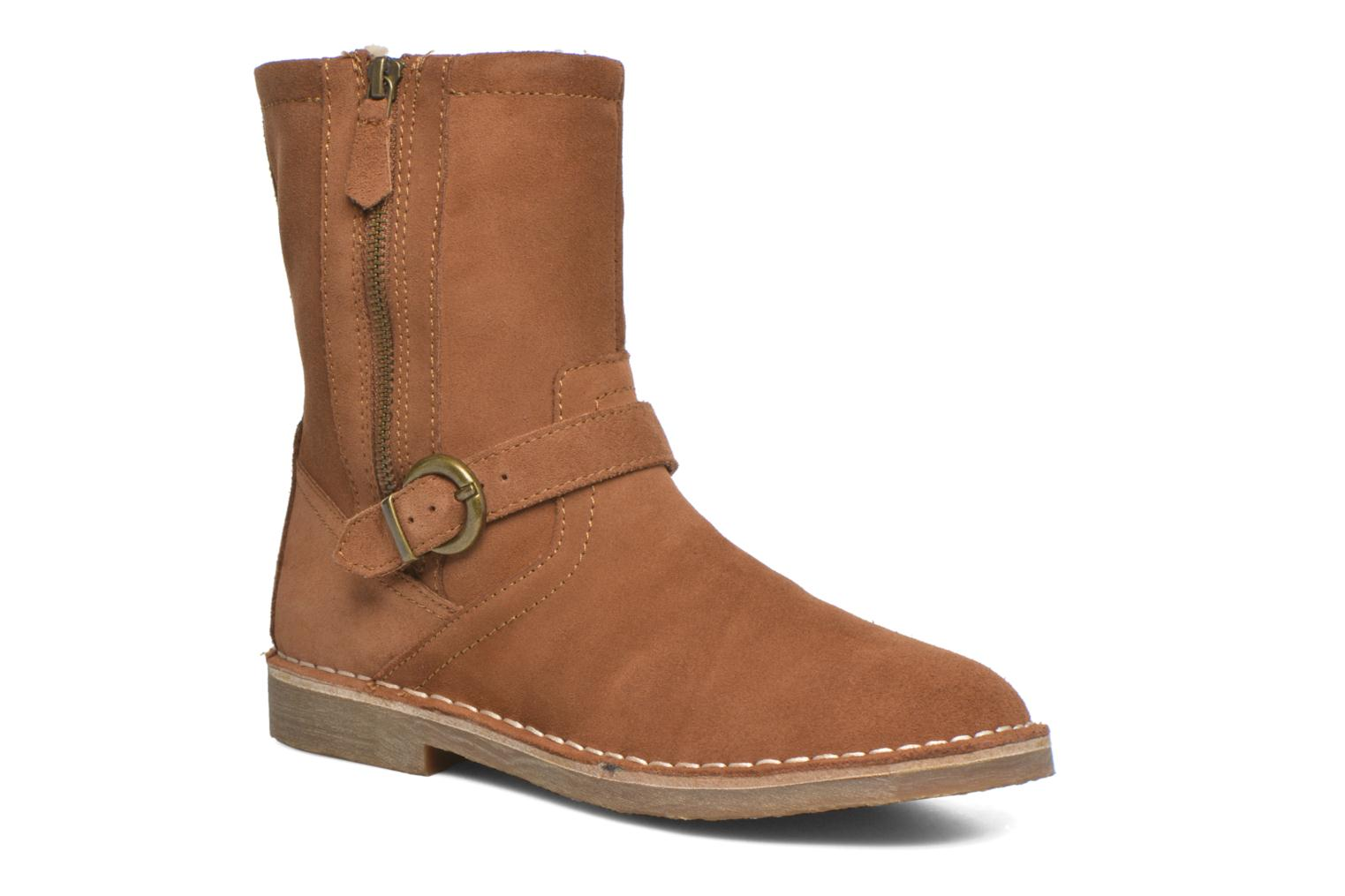 Ankle boots Esprit Koa Buckle Brown detailed view/ Pair view