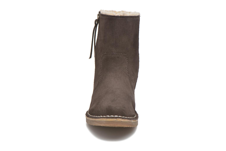 Koa Zip Bootie Dark brown 2