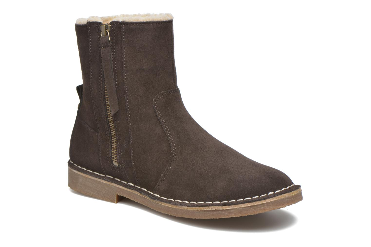 Koa Zip Bootie Dark brown 2