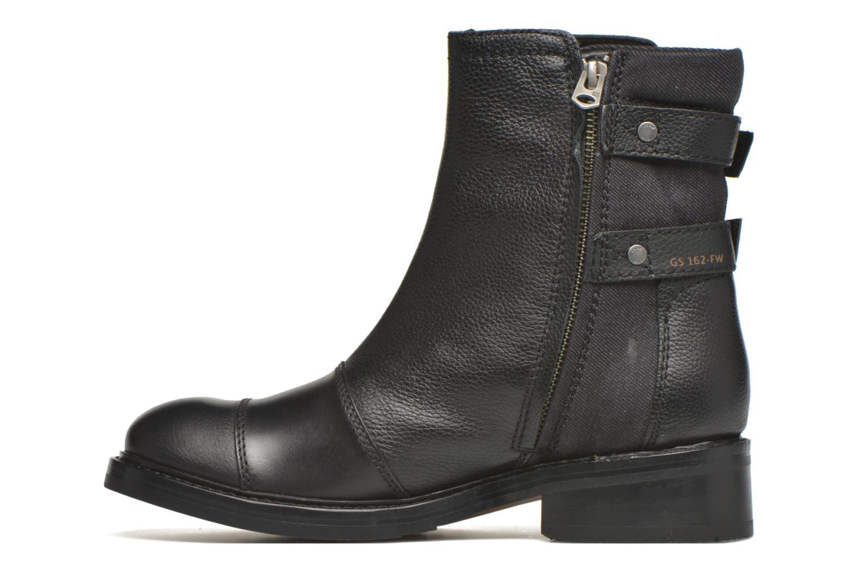 Bottines et boots G-Star Ranker flat boot W Noir vue face
