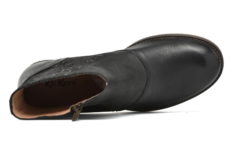 Bottines et boots Kickers Penny Noir vue gauche