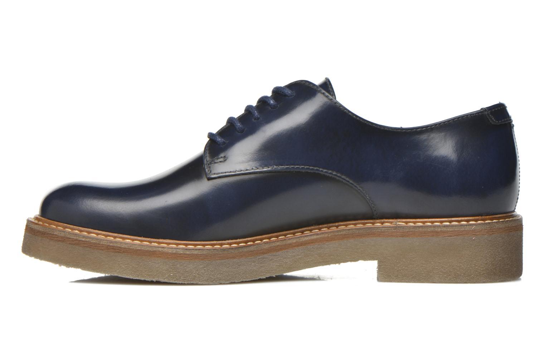 Zapatos con cordones Kickers Oxfork Azul vista de frente