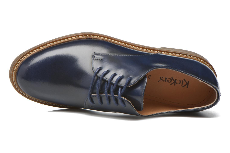 Zapatos con cordones Kickers Oxfork Azul vista lateral izquierda