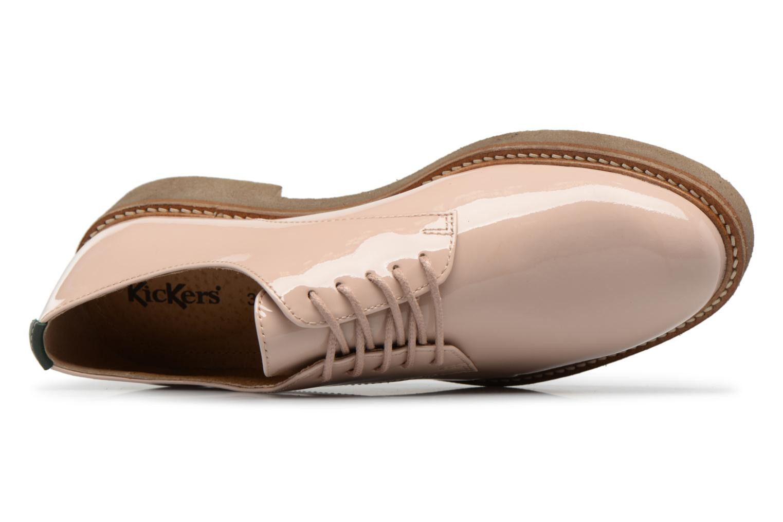 Chaussures à lacets Kickers Oxfork Beige vue gauche