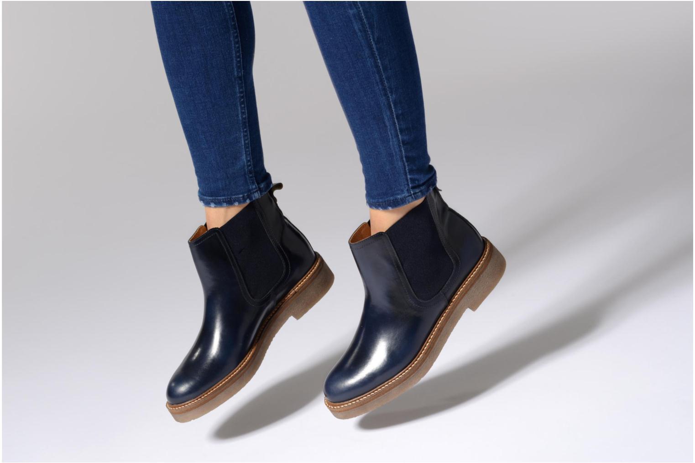 Bottines et boots Kickers Oxfordchic Noir vue bas / vue portée sac