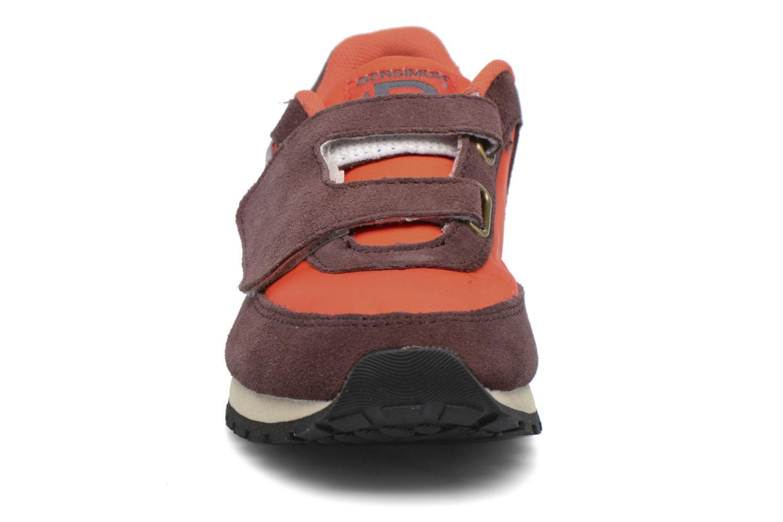 Baskets Bensimon C81 Running Orange vue portées chaussures