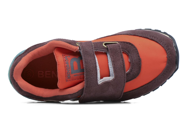 Baskets Bensimon C81 Running Orange vue gauche