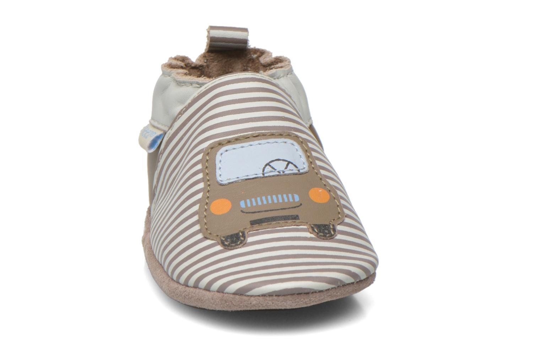 Chaussons Robeez City Car Beige vue portées chaussures