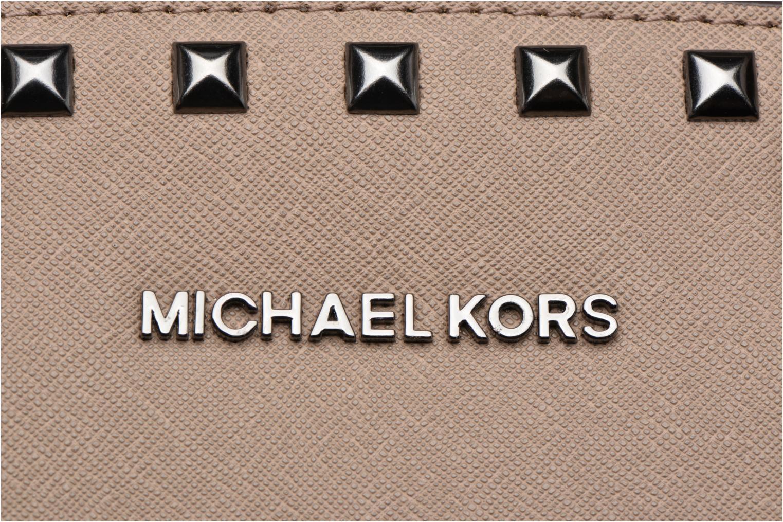 Bolsos de mano Michael Michael Kors SELMA STUD MD TZ Satchel Verde vista lateral izquierda