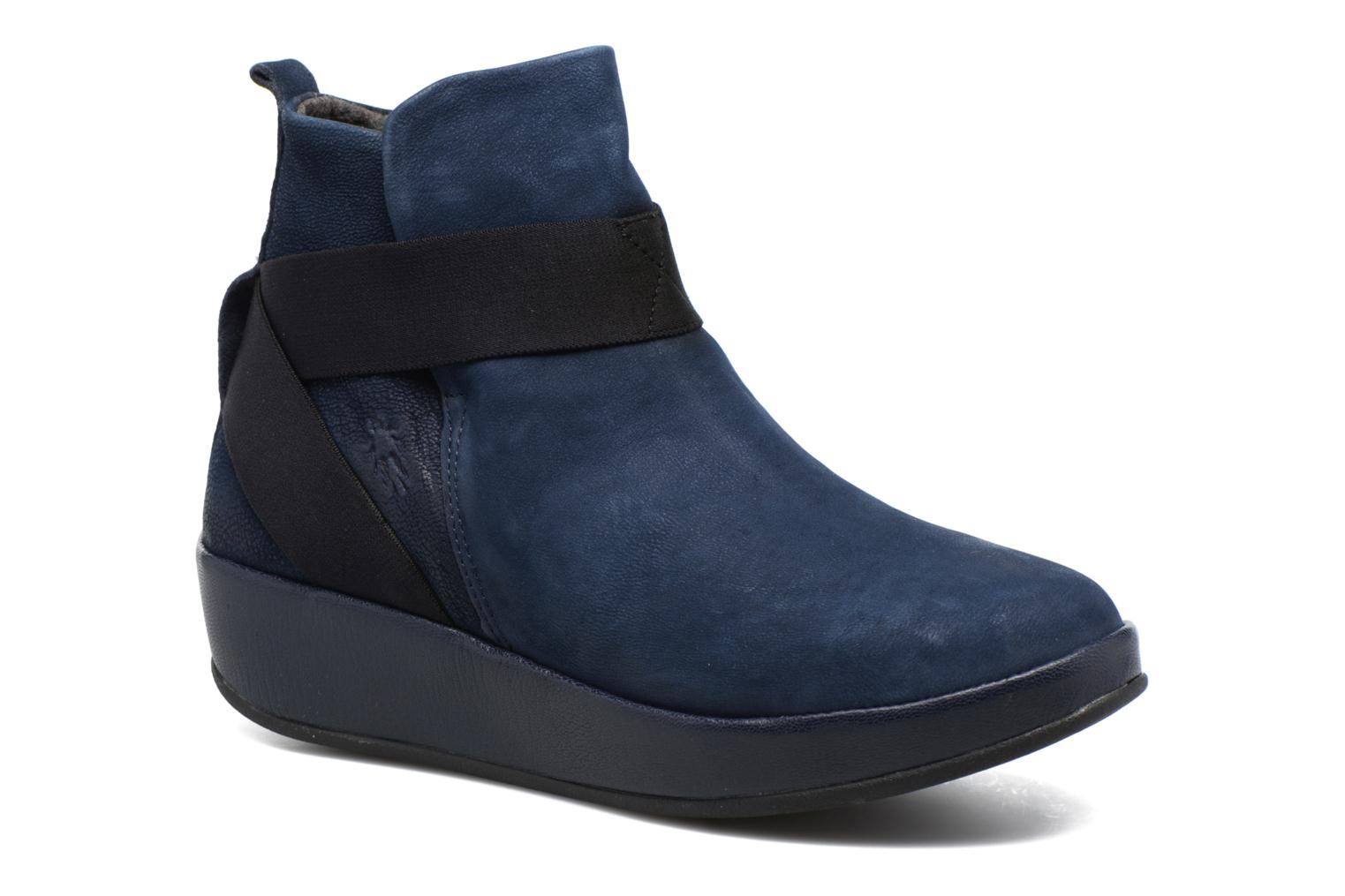 Ankle boots Fly London Beta660 Blue detailed view/ Pair view