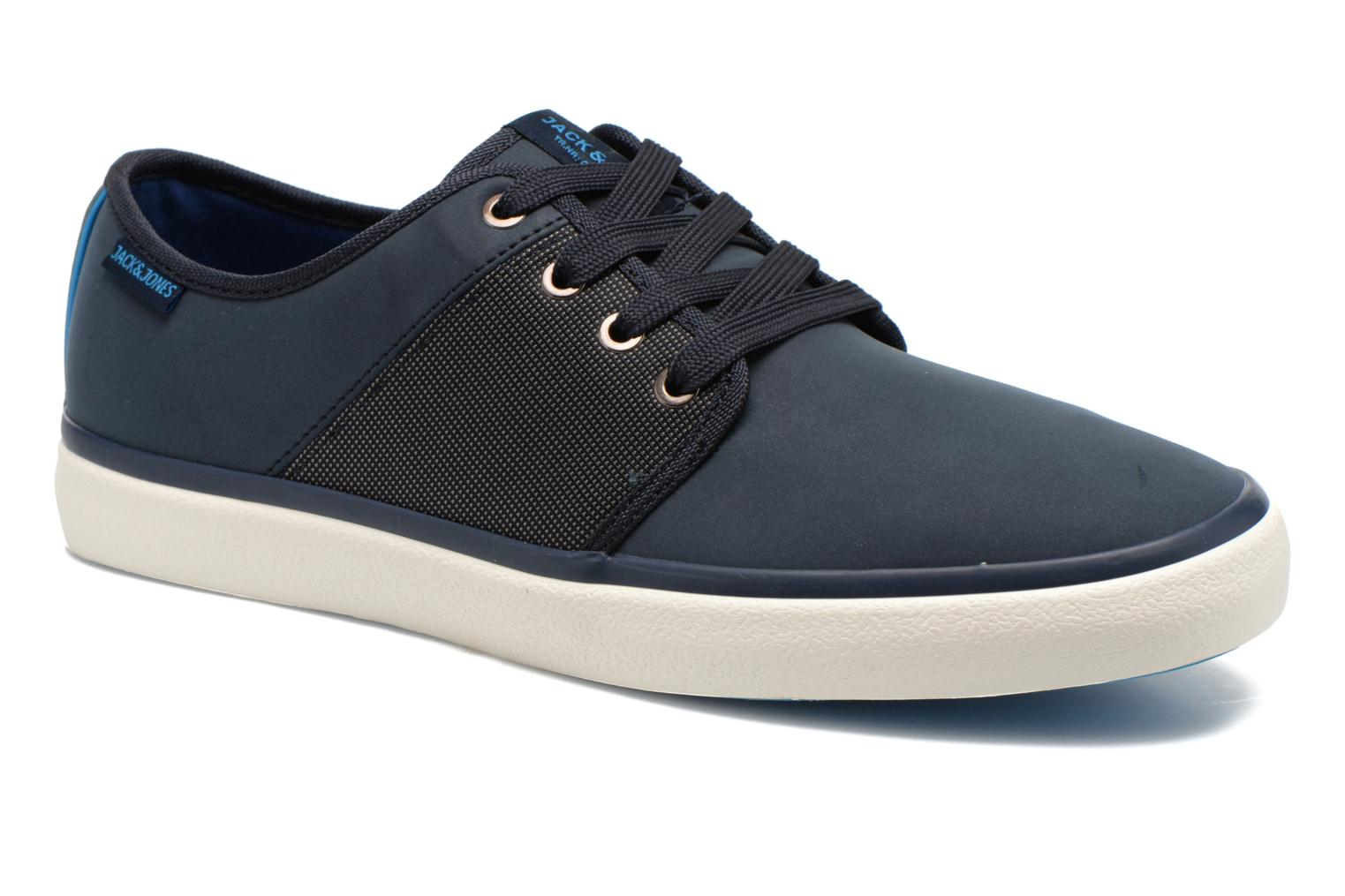 Baskets Jack & Jones JJ Turbo PU Nylon Sneaker Bleu vue détail/paire