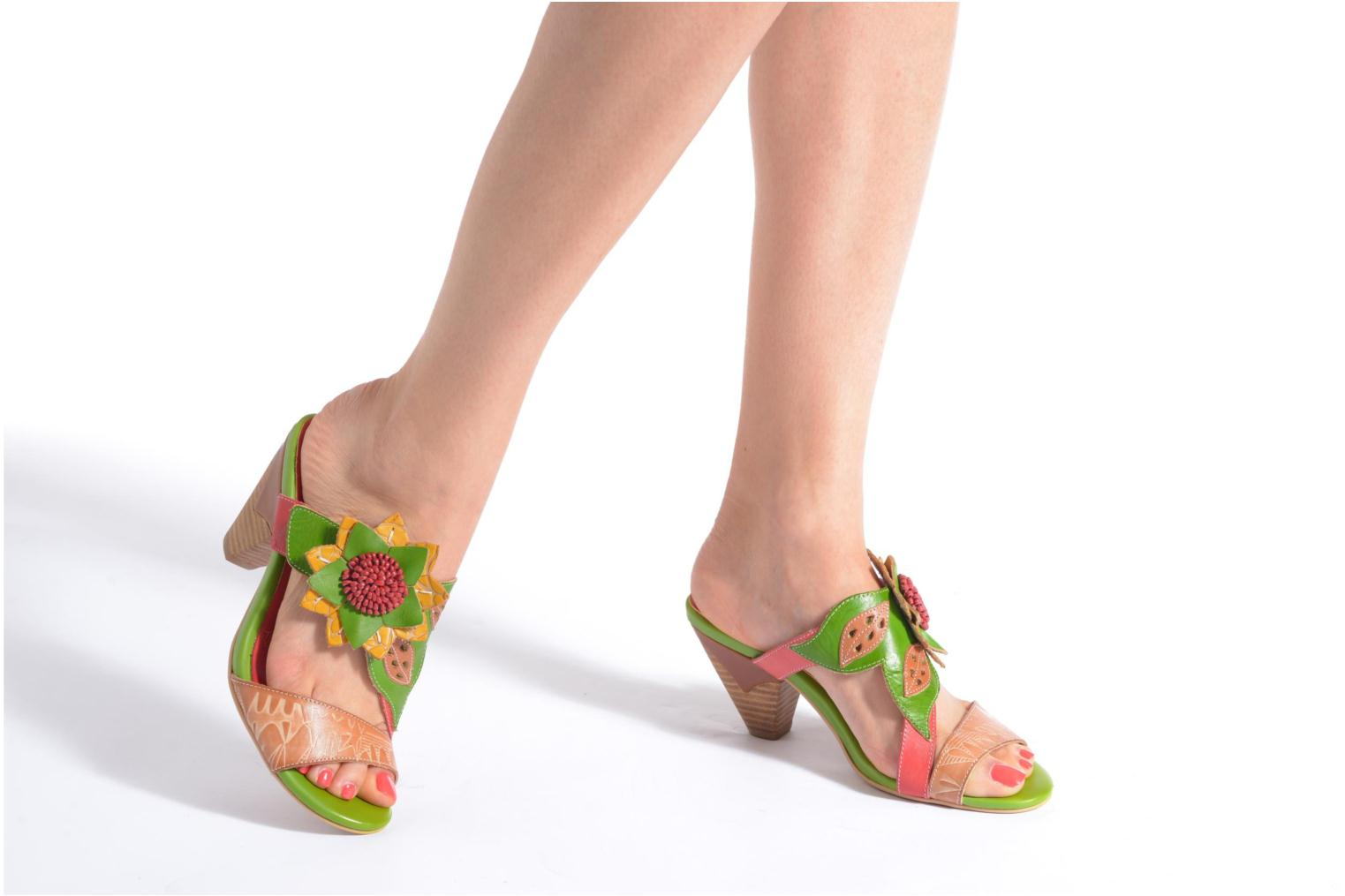 Mules & clogs Laura Vita Toucy Multicolor view from underneath / model view
