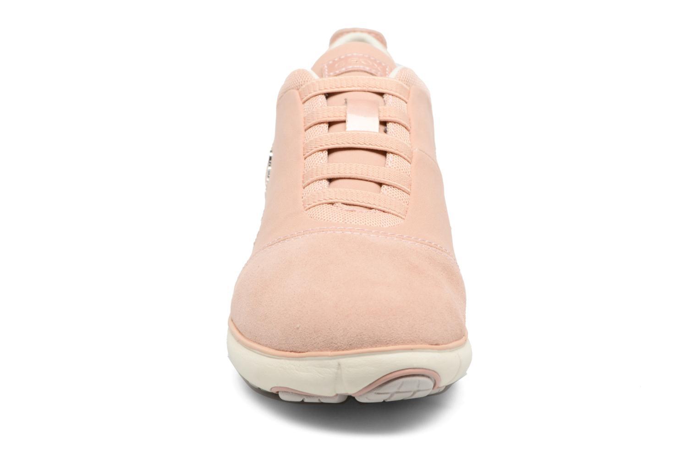 Baskets Geox D NEBULA G D641EG Rose vue portées chaussures