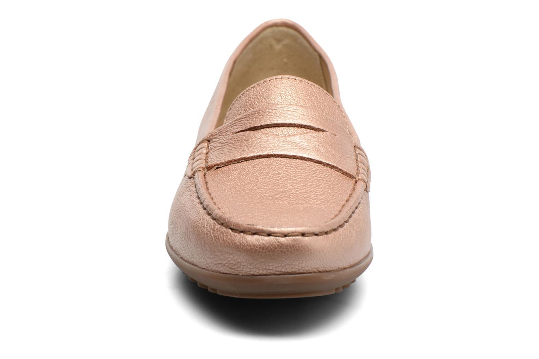Mocassins Geox D ELIDIA A D642TA Or et bronze vue portées chaussures