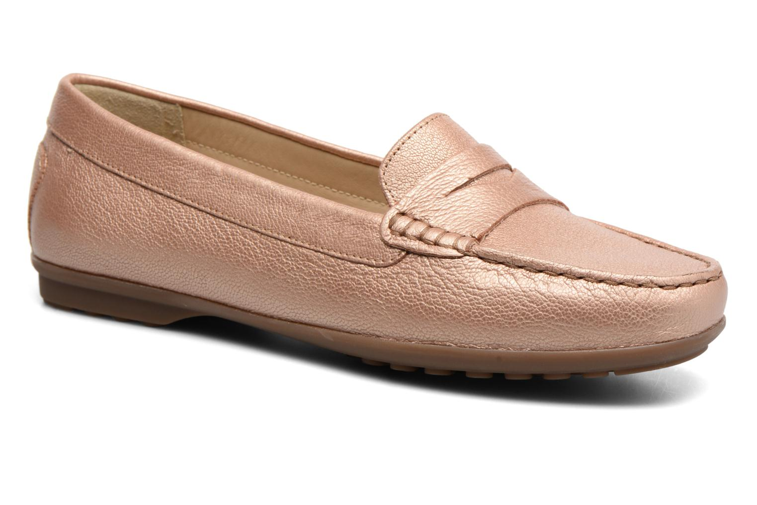 Loafers Geox D ELIDIA A D642TA Bronze and Gold detailed view/ Pair view
