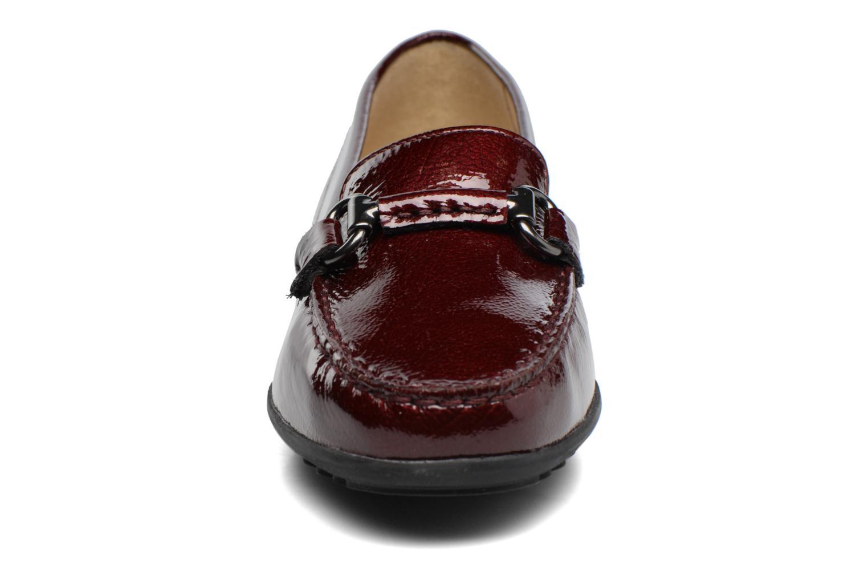 Mocassins Geox D ELIDIA B D642TB Bordeaux vue portées chaussures
