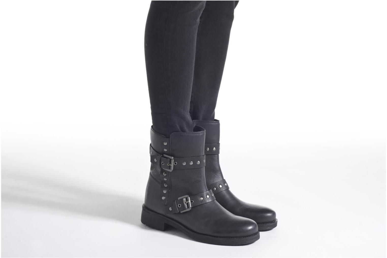 Bottines et boots Geox D NEW VIRNA G D6451G Noir vue bas / vue portée sac