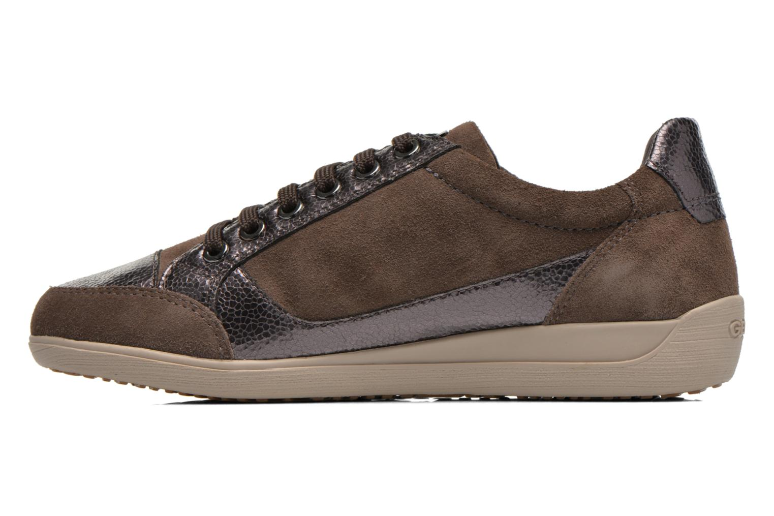 Sneakers Geox D MYRIA A D6468A Oro e bronzo immagine frontale