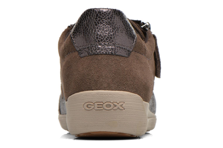 Baskets Geox D MYRIA A D6468A Or et bronze vue droite