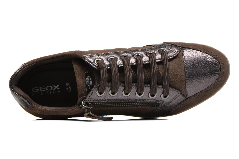 Sneakers Geox D MYRIA A D6468A Oro e bronzo immagine sinistra