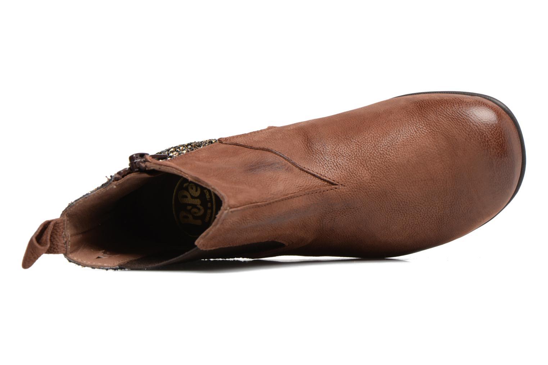 Bottines et boots PèPè Adriana Marron vue gauche