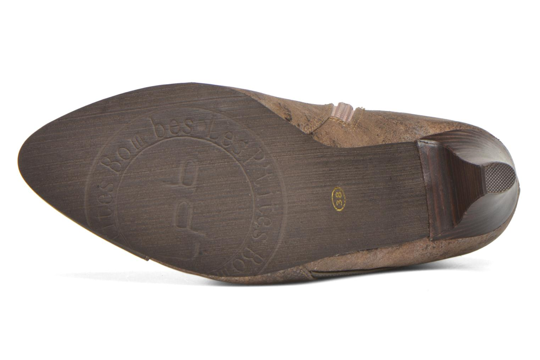 Bottines et boots Les P'tites Bombes Adele Marron vue haut