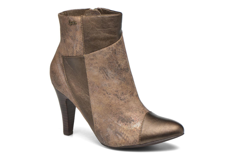 Bottines et boots Les P'tites Bombes Adele Marron vue détail/paire