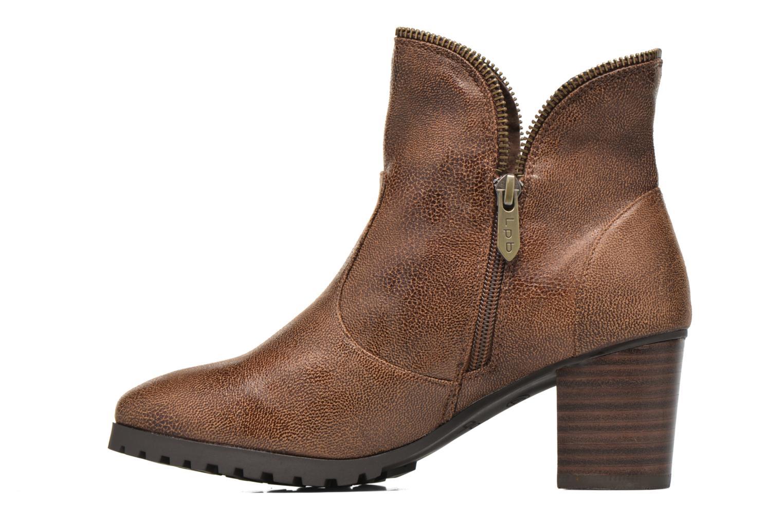 Bottines et boots Les P'tites Bombes Charline Marron vue face