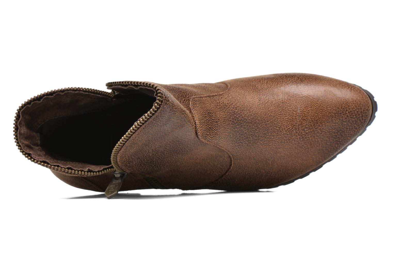 Bottines et boots Les P'tites Bombes Charline Marron vue gauche