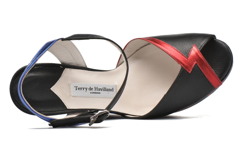 Sandales et nu-pieds Terry de Havilland IZZY PRINT Noir vue gauche