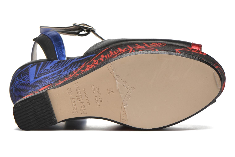 Sandales et nu-pieds Terry de Havilland IZZY PRINT Noir vue haut