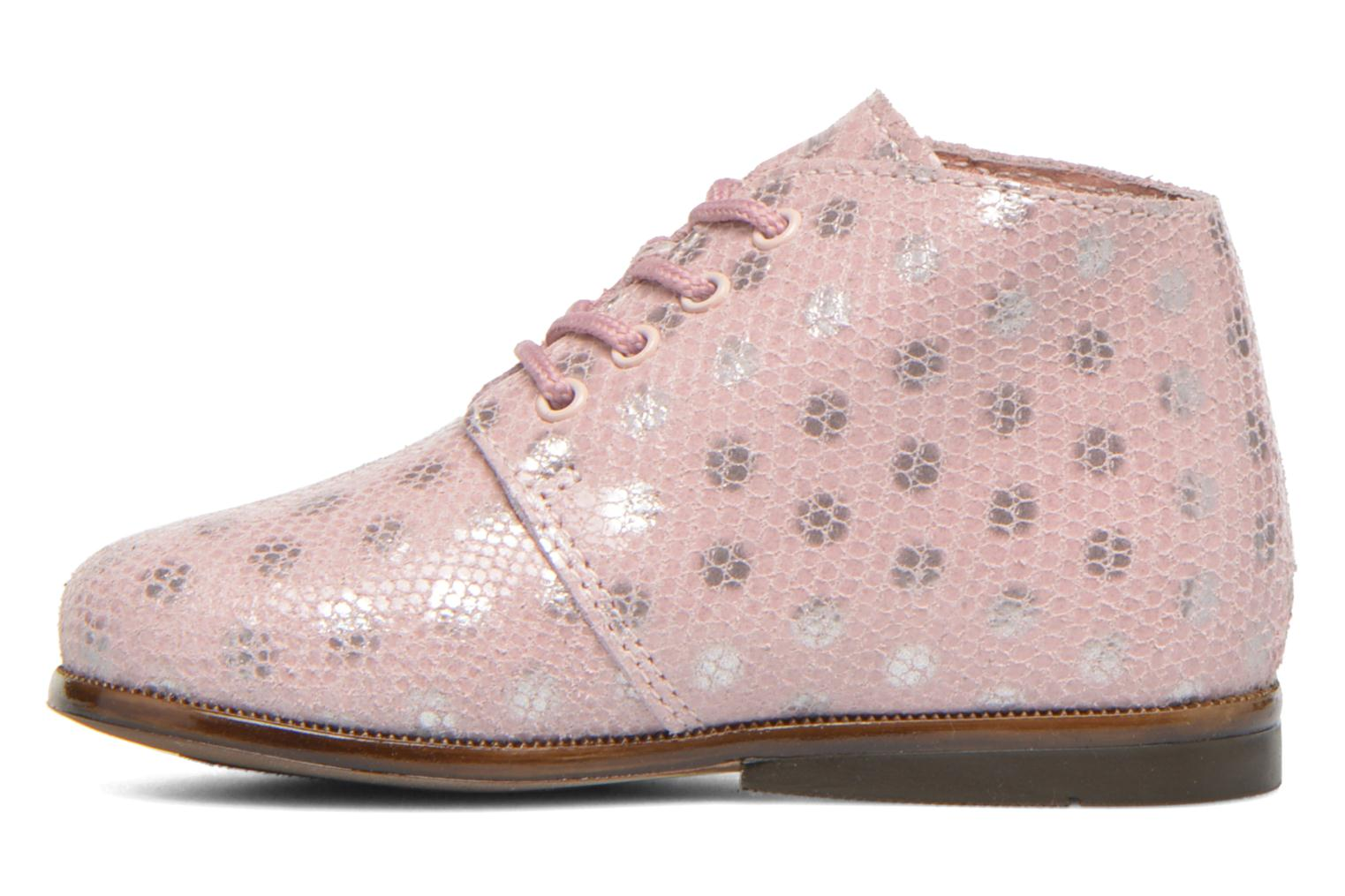 Chaussures à lacets Aster Odria Rose vue face