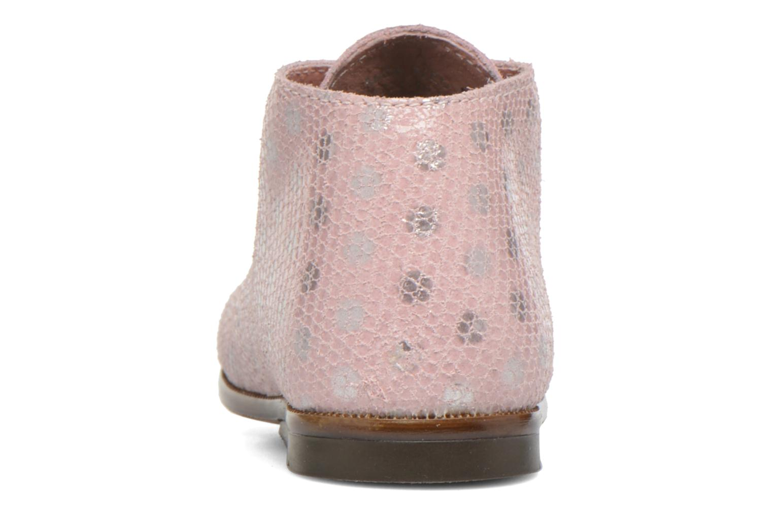 Chaussures à lacets Aster Odria Rose vue droite