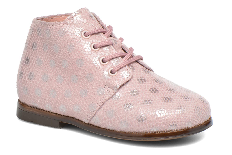Chaussures à lacets Aster Odria Rose vue détail/paire