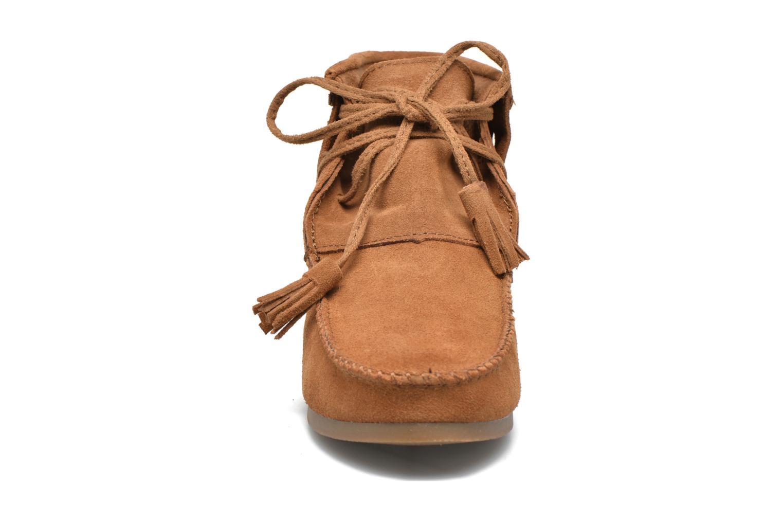 Bottines et boots Les Tropéziennes par M Belarbi Ghita Marron vue portées chaussures