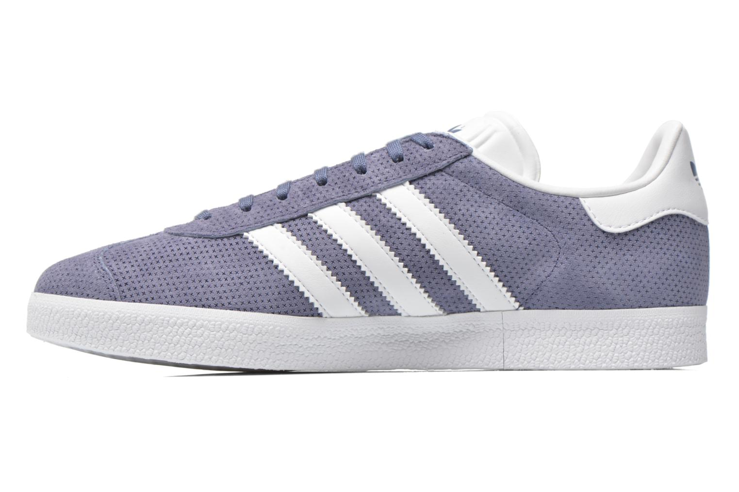 Baskets Adidas Originals Gazelle Bleu vue face