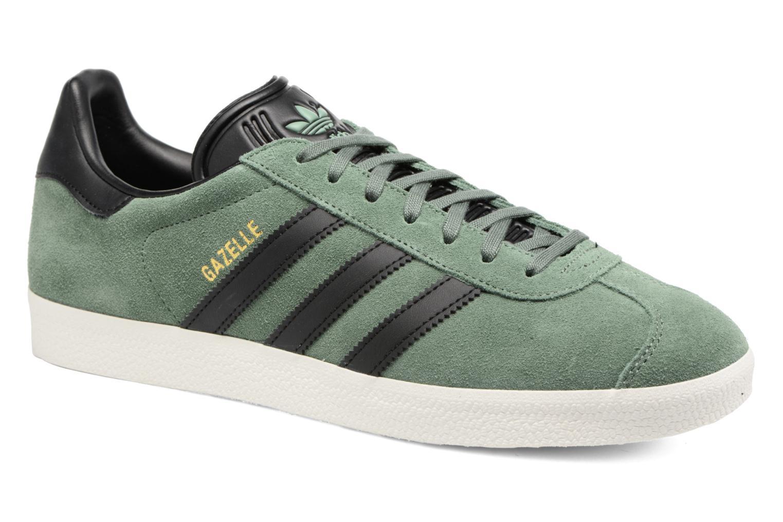 Baskets Adidas Originals Gazelle Vert vue détail/paire
