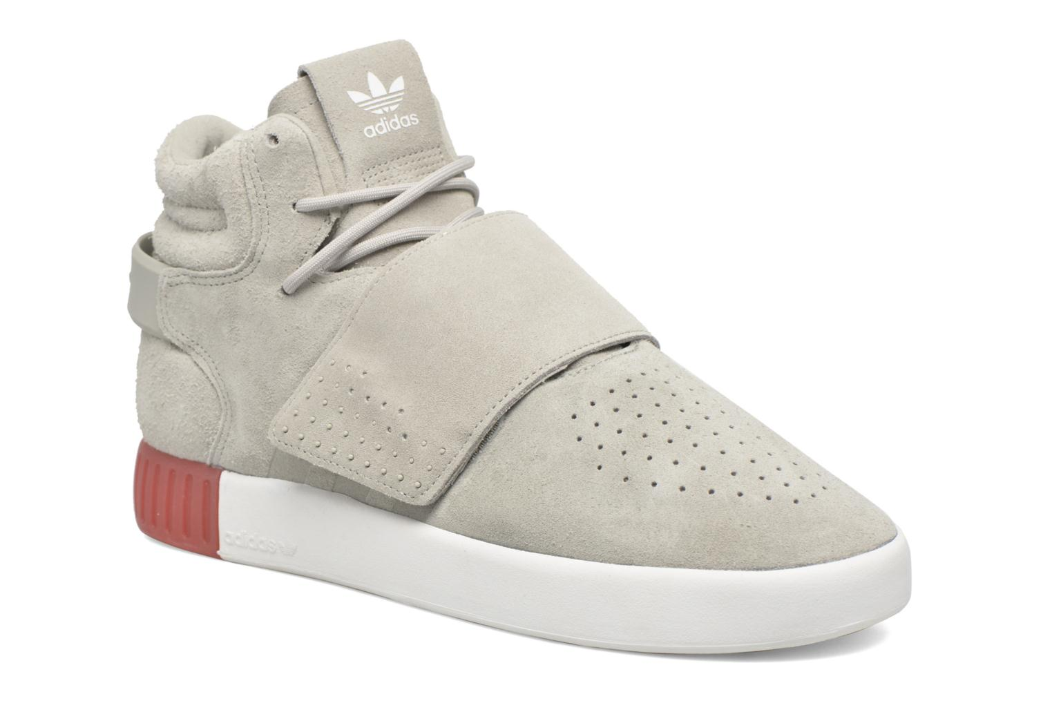 Baskets Adidas Originals Tubular Invader Strap Gris vue détail/paire