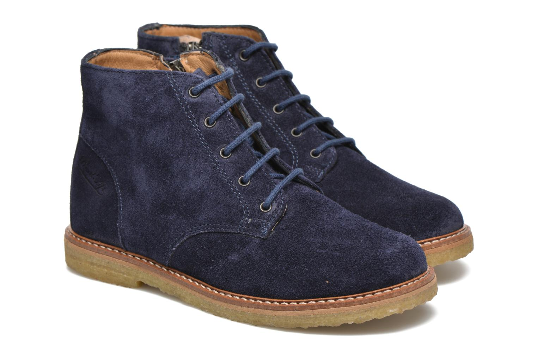 Bottines et boots Pom d Api Pat Brogue Bleu vue 3/4