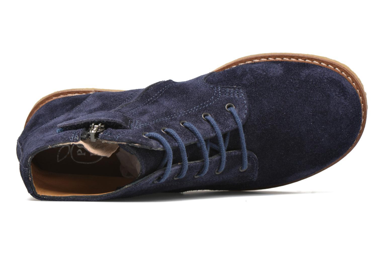 Bottines et boots Pom d Api Pat Brogue Bleu vue gauche