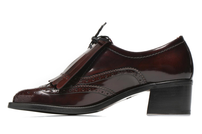 Chaussures à lacets Georgia Rose Parafrange Bordeaux vue face