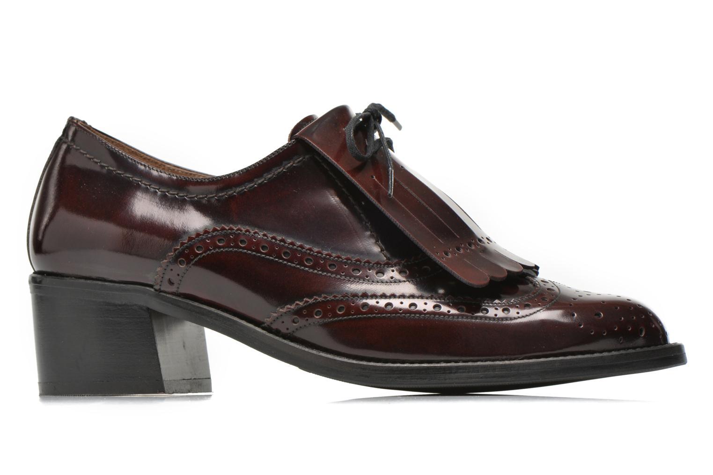 Chaussures à lacets Georgia Rose Parafrange Bordeaux vue derrière