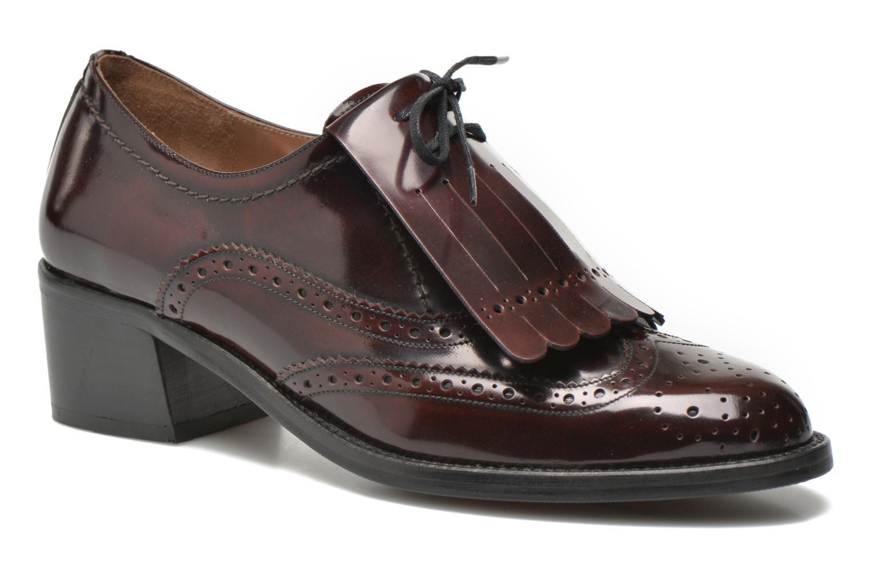 Chaussures à lacets Georgia Rose Parafrange Bordeaux vue détail/paire