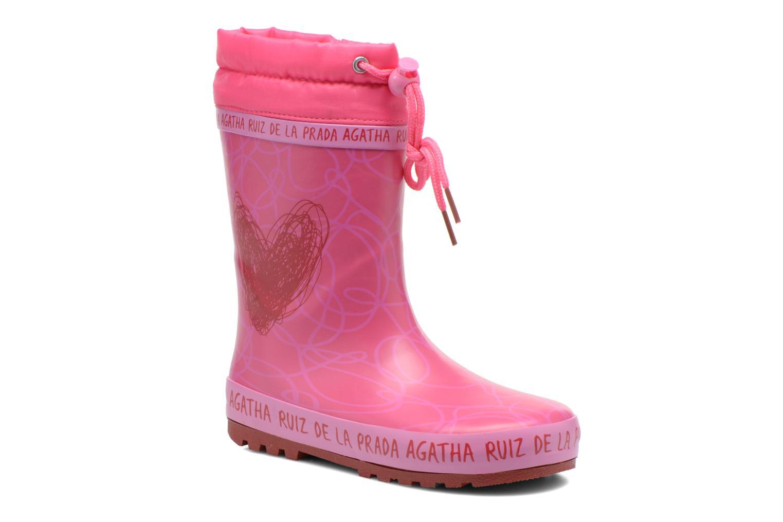 Bottes Agatha Ruiz de la Prada Solka Rose vue détail/paire