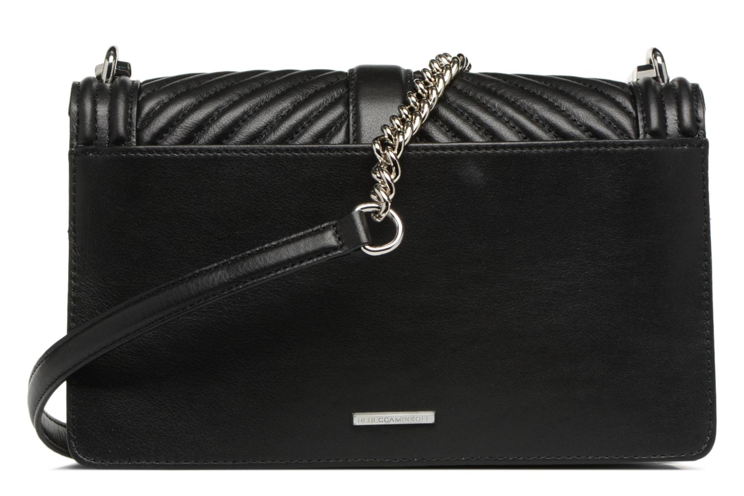 Sacs à main Rebecca Minkoff Chevron Quilted Love Crossbody Noir vue face