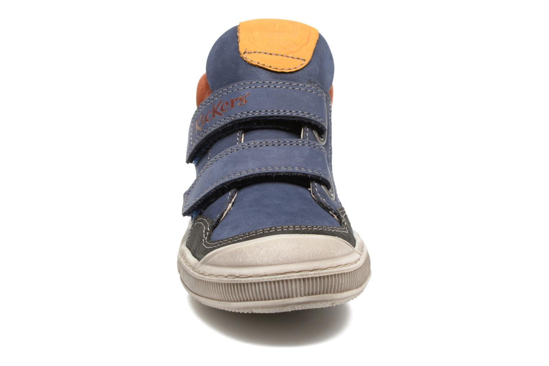 Baskets Kickers Igor Bleu vue portées chaussures