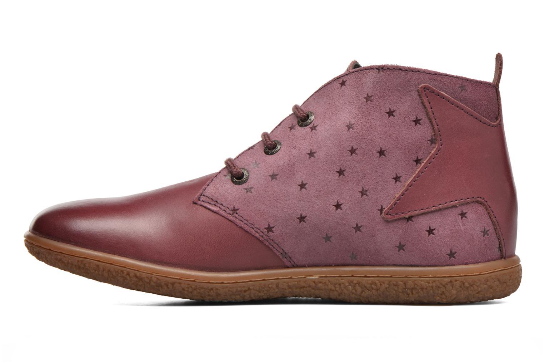 Bottines et boots Kickers Verblue Rose vue face